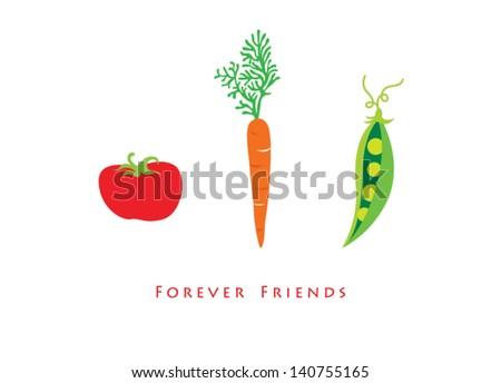 carrot tomato pea forever