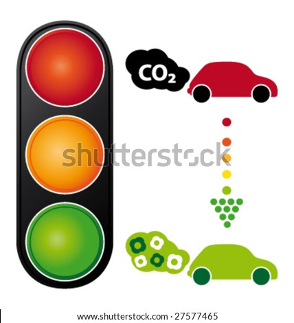 Cars and air pollution vector illustration