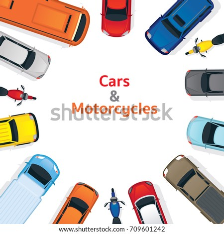 cars and motorcycles  top or