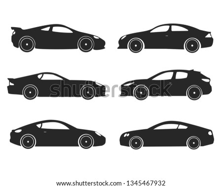 Cars collection icons set on white background for graphic and web design, Modern simple vector sign. Internet concept. Trendy symbol for website design web button or mobile app