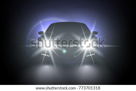 cars flares light effect