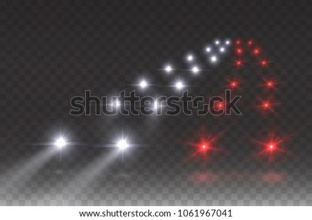 cars flares traffic road light