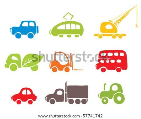 Car Icon Set Cars Icon Set