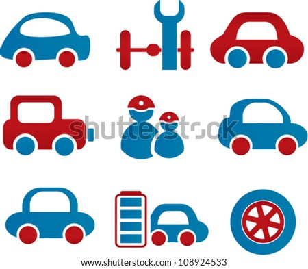 cars icons, vector