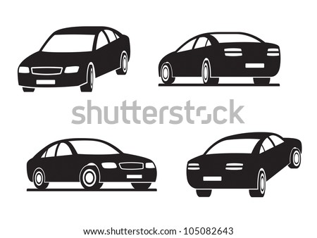 cars in perspective   vector