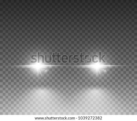 cars light effect white glow