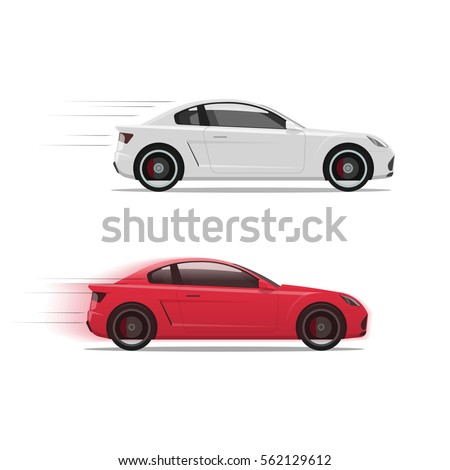 cars racing fast vector