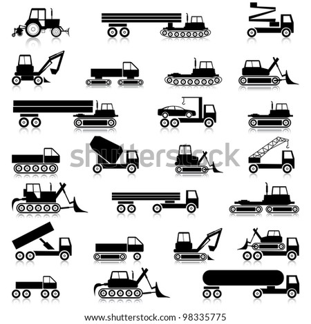 Cars, vehicles. Car body. Special cars  technique. - stock vector