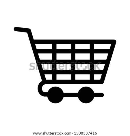 cart glyph flat vector icon