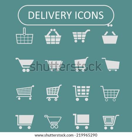 cart icon set