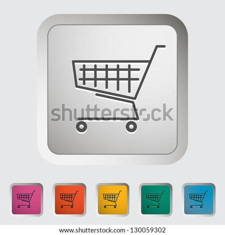 Cart single icon. Vector illustration.