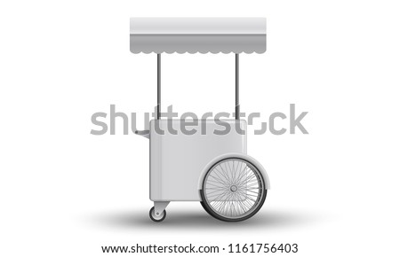 Cart With Awning Mockup. Street cart with awning. Mockup template for branding and product designs. Easy to use for advertising branding and marketing.