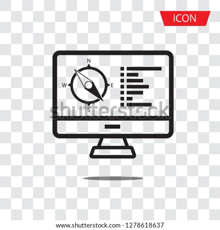 Cartography and topography icon set. Maps, location and navigation icons. Vector illustration. Simplus series