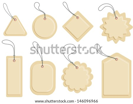 Carton labels of various shapes Insert your text