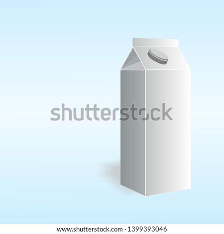 Carton of milk. Carton. Stock vector illustration