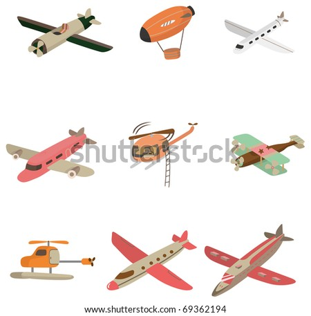 cartoon aircraft  icon