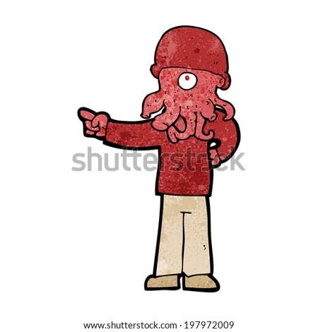 cartoon alien monster man
