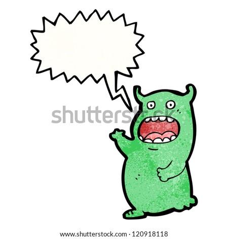 cartoon alien shouting