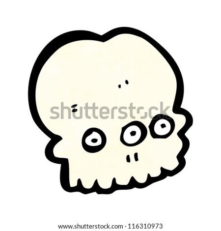 cartoon alien skull