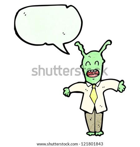 cartoon alien space man