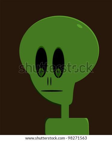 cartoon alien with small aliens in eyes
