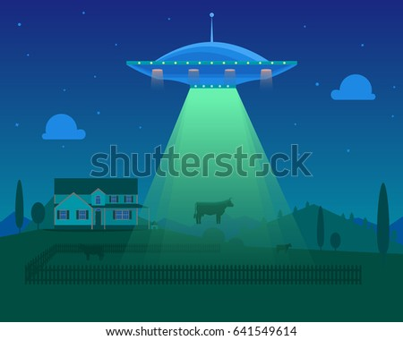 cartoon aliens spaceship or ufo
