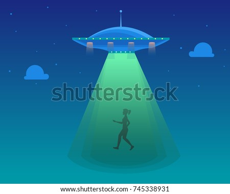 cartoon aliens spaceship or ufo