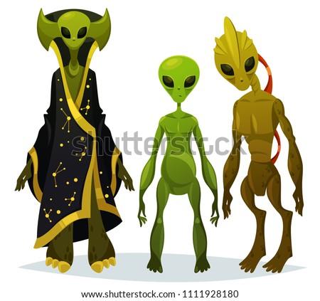 cartoon aliens staring or funny
