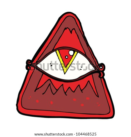 cartoon all seeing eye sign