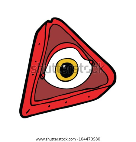 cartoon all seeing eye sign