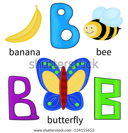 Objects Starting with Letter B http://www.shutterstock.com/pic-134155652/stock-vector-cartoon-alphabet-for-children-letter-b-and-objects-isolated-on-white.html