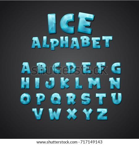 cartoon alphabet set creative