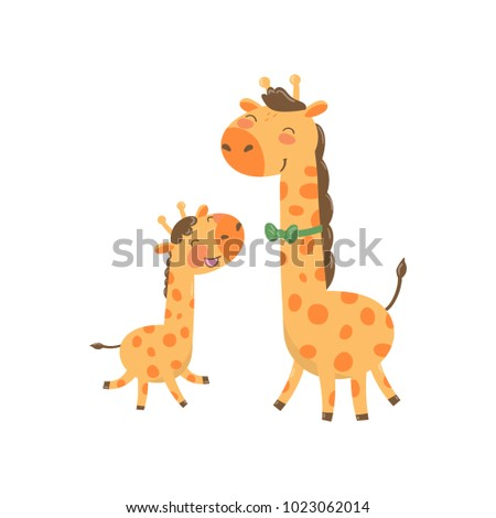 cartoon animal family portrait