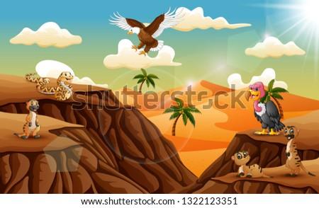 cartoon animal in the desert