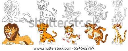 cartoon animal set collection