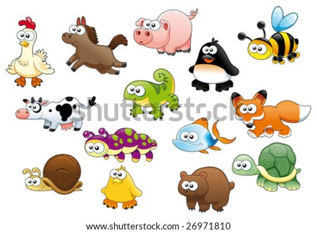 Stock Vector on Cartoon Animals And Pets Stock Vector 26971810   Shutterstock