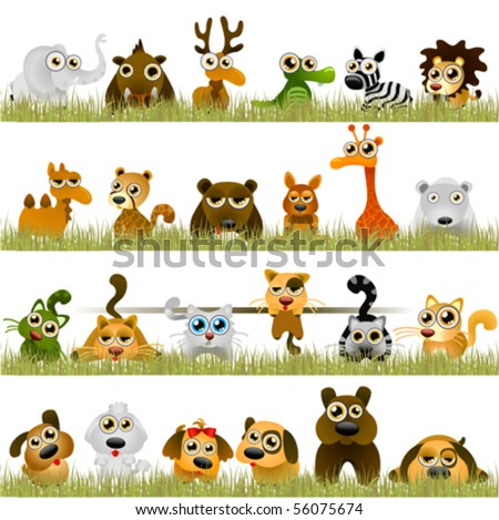 cartoon animals big set