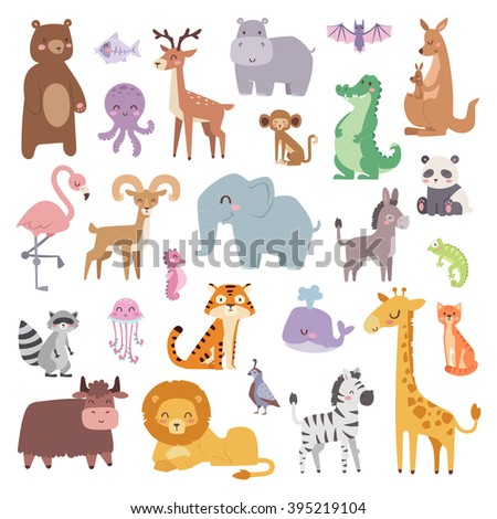 cartoon animals character and