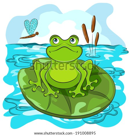 cartoon animals frog coloring