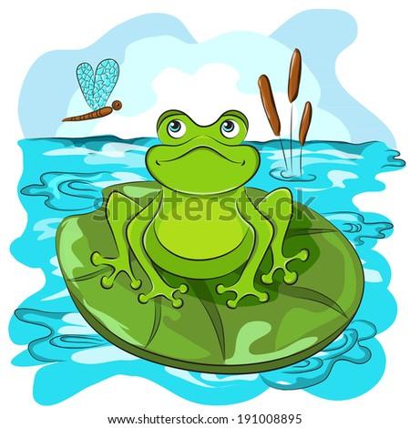 cartoon animals frog coloring