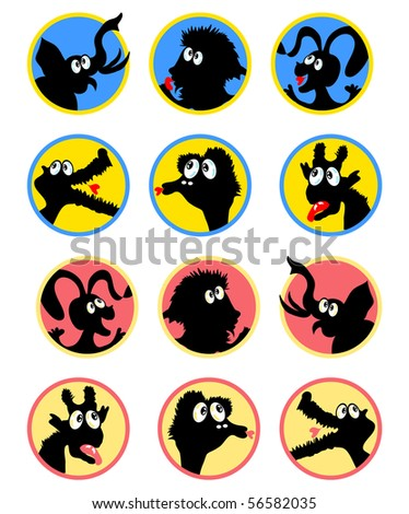 cartoon animals pictures for kids. stock vector : Cartoon Animals