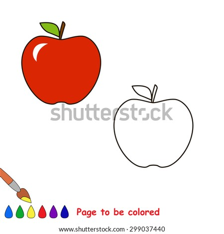 cartoon apple to be colored