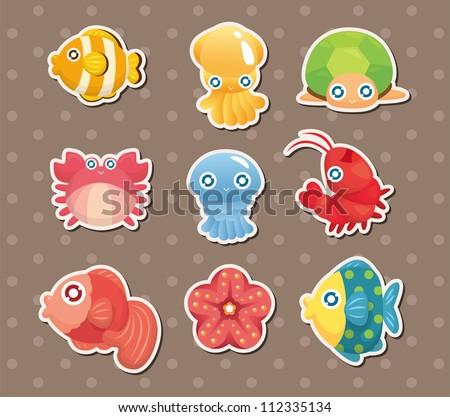 cartoon aquatic anima stickers