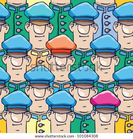 cartoon army. soldiers. seamless vector