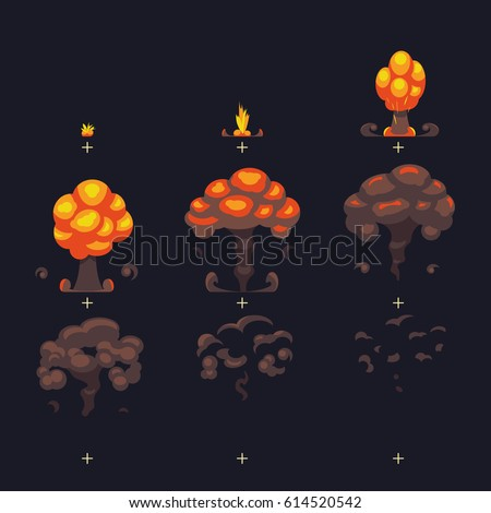 cartoon atomic bomb explosion