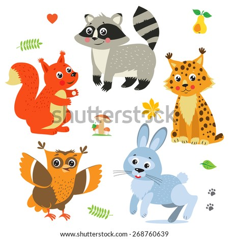 cartoon baby animals pack cute