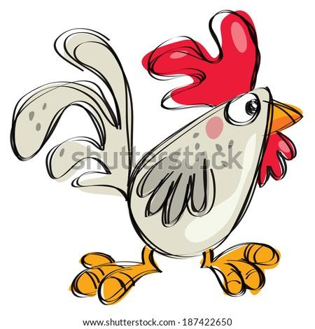 cartoon baby chicken white any