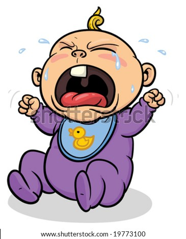 cartoon images of people crying. stock vector : Cartoon baby crying