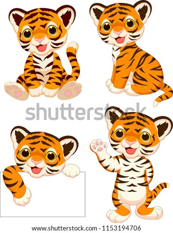 cartoon baby tigers collection
