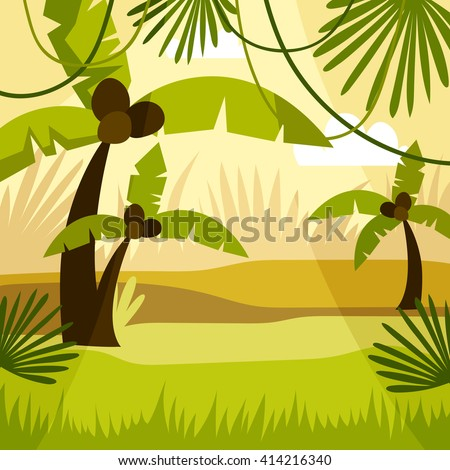 cartoon background jungle